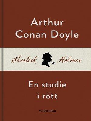 cover image of En studie i rött (En Sherlock Holmes-roman)