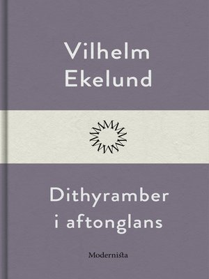 cover image of Dithyramber i aftonglans