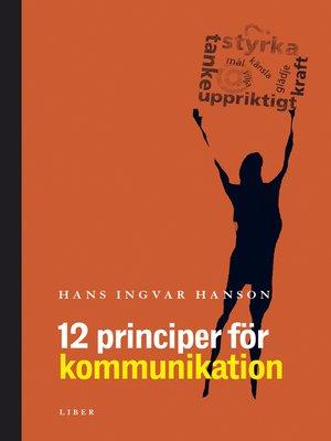 cover image of 12 principer för kommunikation