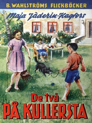 cover image of De två på Kullersta