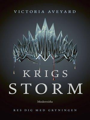 cover image of Krigsstorm (Fjärde boken i Röd drottning-serien)