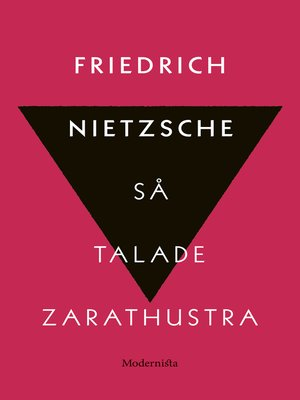 cover image of Så talade Zarathustra