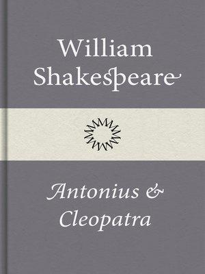 cover image of Antonius och Cleopatra