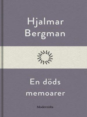 cover image of En döds memoarer