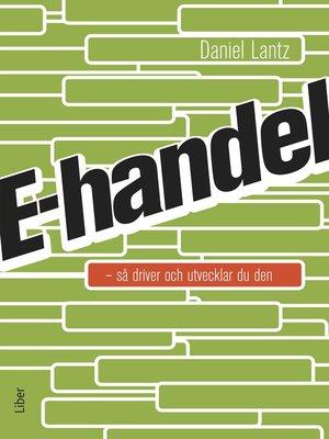 cover image of E-handel