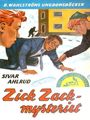 cover image of Tvillingdetektiverna 22--Zick-zack-mysteriet