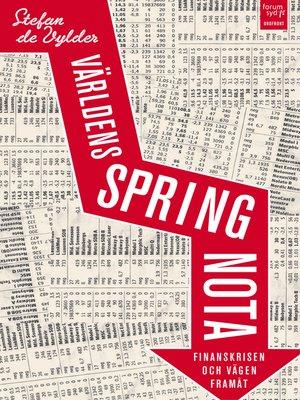 cover image of Världens springnota