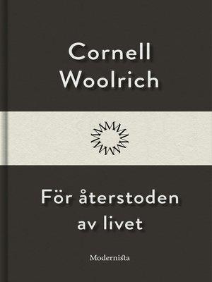 cover image of För återstoden av livet