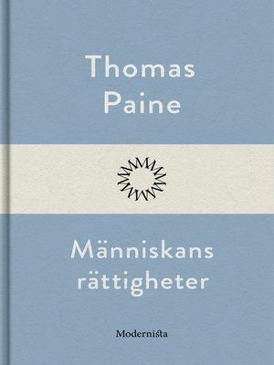 cover image of Människans rättigheter
