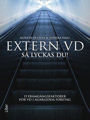 cover image of Extern VD. Så lyckas du!