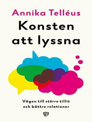cover image of Konsten att lyssna