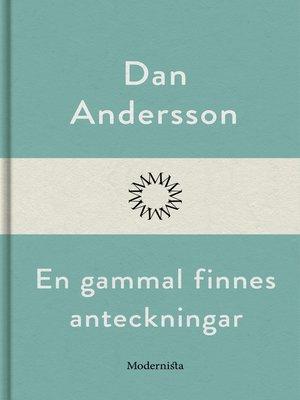 cover image of En gammal finnes anteckningar