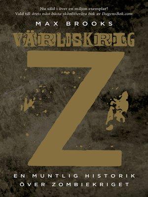 cover image of Världskrig Z