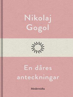 cover image of En dåres anteckningar
