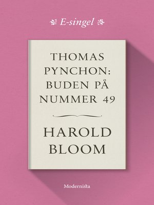cover image of Thomas Pynchon