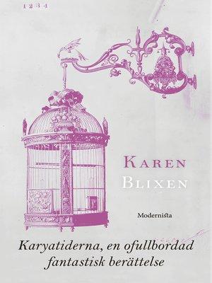 cover image of Karyatiderna, en ofullbordad fantastisk berättelse