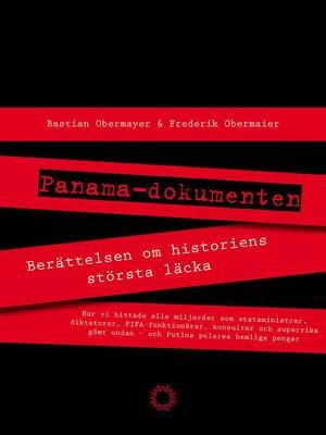 cover image of Panamadokumenten