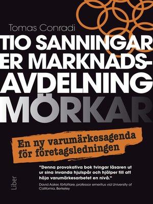 cover image of Tio sanningar er marknadsavdelning mörkar