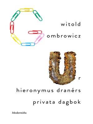 cover image of Ur Hieronymus Dranérs privata dagbok