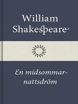 cover image of En midsommarnattsdröm