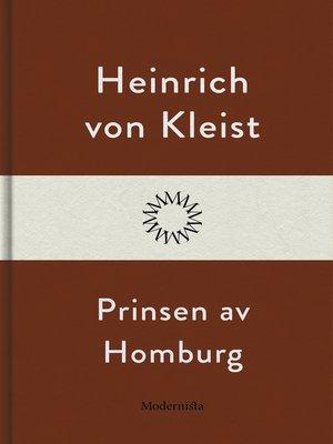 cover image of Prinsen av Homburg