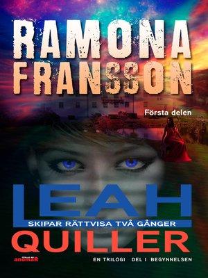 cover image of Kriminalkommissarie Leah Quiller Trilogi