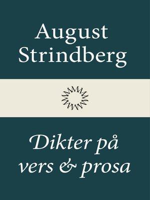 cover image of Dikter på vers och prosa