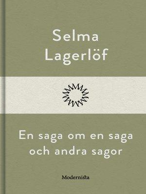 cover image of En saga om en sag och andra sagor