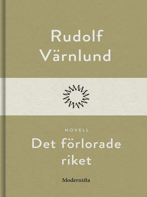 cover image of Det förlorade riket