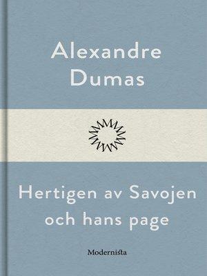 cover image of Hertigen av Savojen och hans page