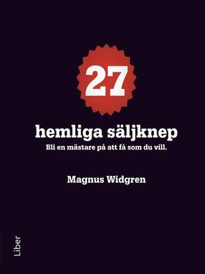 cover image of 27 hemliga säljknep