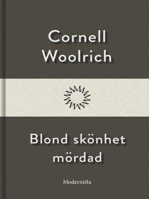 cover image of Blond skönhet mördad