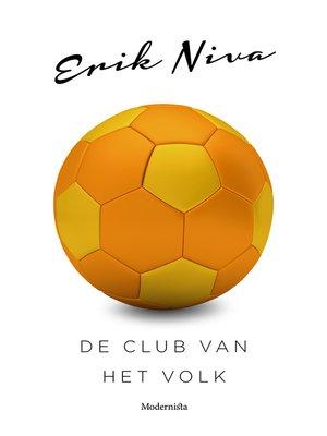 cover image of De club van het volk