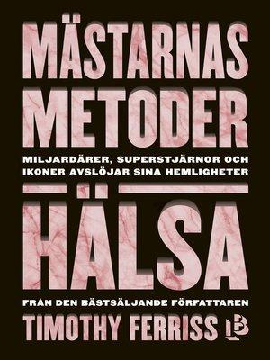 cover image of Mästarnas metoder