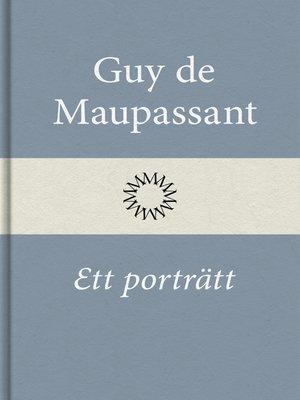 cover image of Ett porträtt