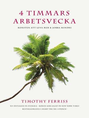 cover image of 4 timmars arbetsvecka