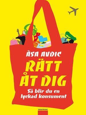 cover image of Rätt åt dig