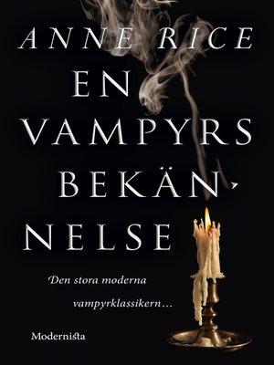 cover image of En vampyrs bekännelse
