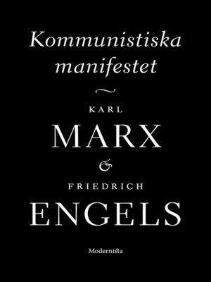 cover image of Kommunistiska manifestet