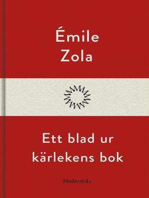 cover image of Ett blad ur kärlekens bok