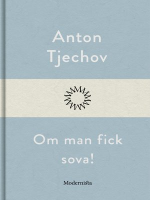 cover image of Om man fick sova!