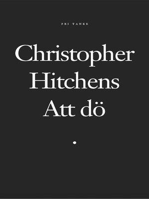 cover image of Att dö