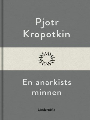 cover image of En anarkists minnen