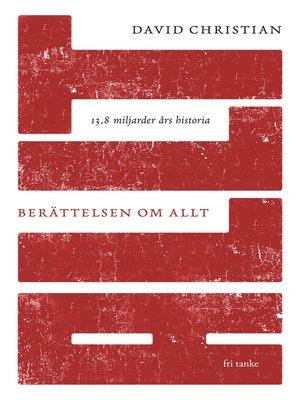 cover image of Berättelsen om allt