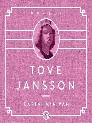 cover image of Karin, min vän
