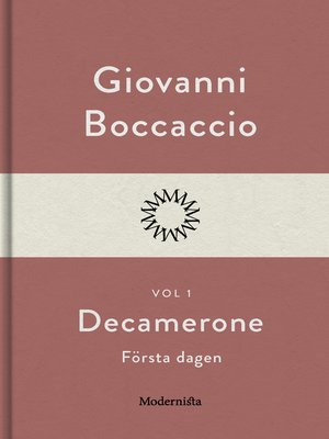cover image of Decamerone vol 1, första dagen