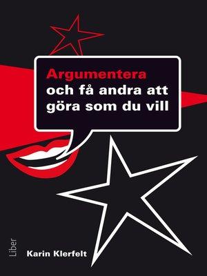 cover image of Argumentera