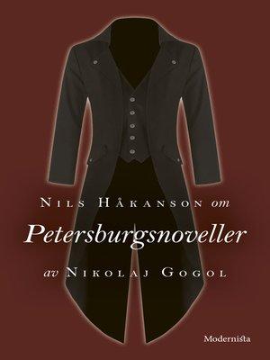 cover image of Om Petersburgsnoveller av Nikolaj Gogol
