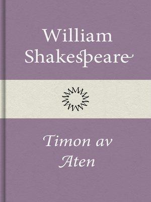 cover image of Timon av Aten