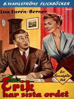 cover image of Fröken Sprakfåle 18--Erik har sista ordet